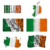 Irish flag collage