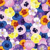 pansies seamless background