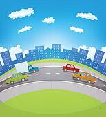 Cartoon Urban Traffic