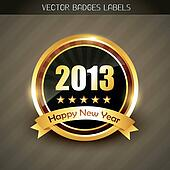 new year label vector