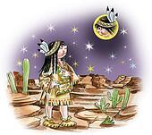 north american indian girl