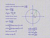 Mathematical Trigonometry Equations