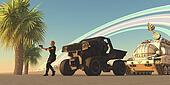Convoy on Alien Planet