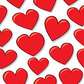 Seamless Cartoon Hearts