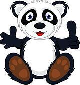 baby panda with thumb up