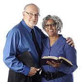 Biracial Couple with Bibles