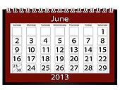 3d Render 2013 Calendar June