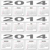 Bursting monthly calendar for 2014