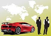 Automobile show with concept-car a