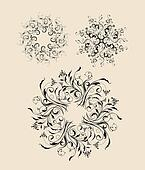 Abstract 2 decorative ornaments