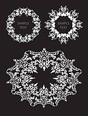 Abstract 6 decorative ornaments