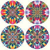 Set of art deco rosettes