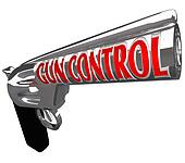 Gun Control Words Pistol Handgun Stop Violence