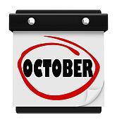 October Word Wall Calendar Change Month Schedule
