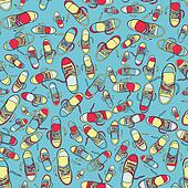 Pattern of fashion colorful shoes.