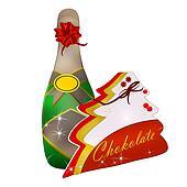 Celebration, champagne, chocolates
