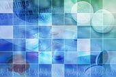 Blue Pharmaceutical Pill Background With Grid