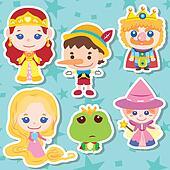 Cartoon story people icons