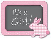 It's a Girl!   Baby Bunny Rabbit