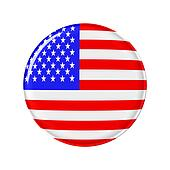 Badge America Flag