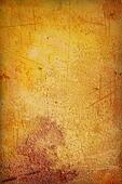 Grain yellow / brown paint wall background or vintage texture