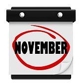November Word Wall Calendar Change Month Schedule