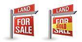 Land for sale sign illustration