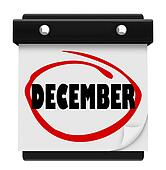 December Word Wall Calendar Change Month Winter Christmas