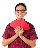 Happy Southeast Asian Chinese male