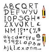 set of hand written letters