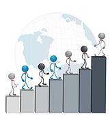 Successful business men vector