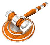 3d Wooden gavel