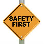 3d safety first signboard