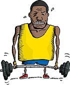 Struggling Weightlifter