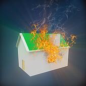 3d house on fire