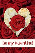 Be my Valentine - Rose heart card