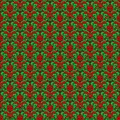 Seamless Green & Red Damask