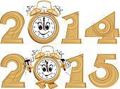 new year`s clock