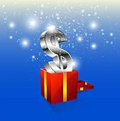 money icon with gift box