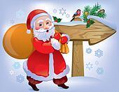 Santa Claus wooden sign