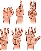 Four Fingers Clip Art - Royalty Free - GoGraph