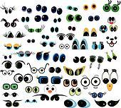 cartoon vector eyes collection