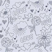 Hand-drawn funny seamless pattern