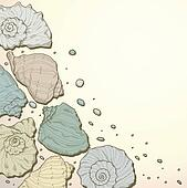 Hand drawing seashell background