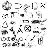 Set hand drawn doodle