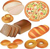 Bread and bakery set