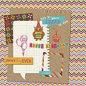 Retro Birthday Celebration Design