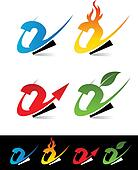 Swoosh Number Icons 2