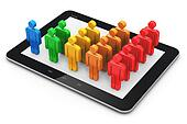 Social networking and client management concept
