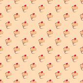Seamless vector muffin pattern
